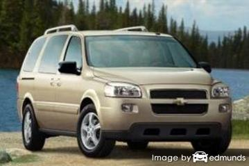 Insurance rates Chevy Uplander in Anchorage