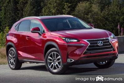 Insurance rates Lexus NX 300h in Anchorage