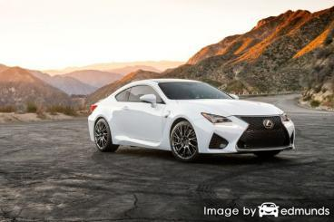 Insurance rates Lexus RC F in Anchorage
