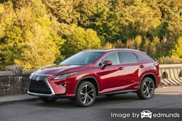 Insurance rates Lexus RX 450h in Anchorage