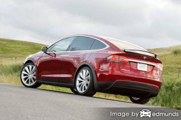 Insurance quote for Tesla Model X in Anchorage